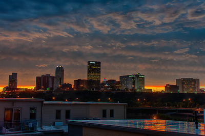Pittsburgh Sunset - We had an amazing sunset last week after a storm passed through the area. I missed the best moment, but as soon as I got home I ran to the roof with my camera and took this photo.