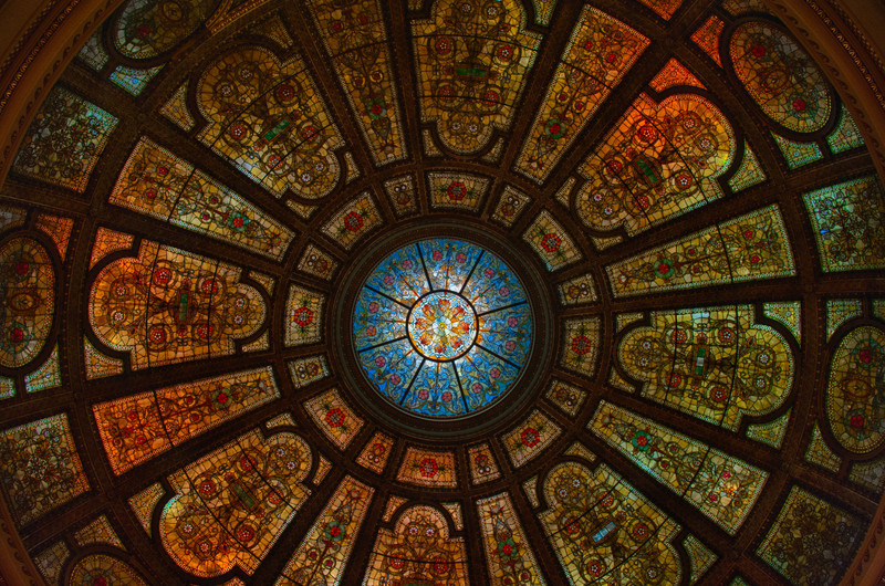 Healy and Millet Stained Glass Dome - Chicago Cultural Center